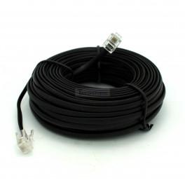 RJ11 Telephone Cable 50ft Black