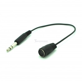"""MIDI to 1/4"""" Adapter Cable: 5-pin DIN to Stereo"""