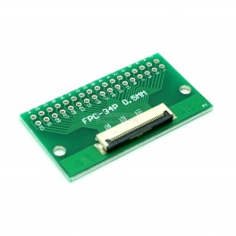 34 Pin 0.5mm & 1mm pitch FPC to DIP Breakout