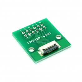 12 Pin 0.5mm & 1mm pitch FPC to DIP Breakout