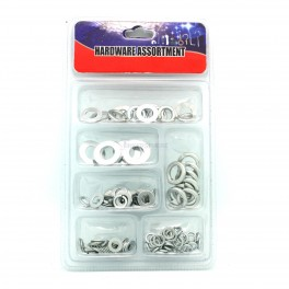 144pc Washer Set Assorted Split Lock and Flat Washers