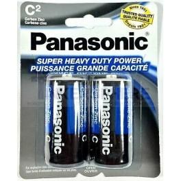 Panasonic 2 Pack C Batteries