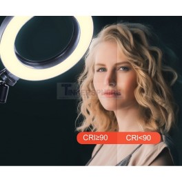 6 Inch LED Light Ring Dimmable Selfie Zoom Live Video Stream USB