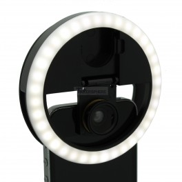 Selfie Light Ring with Lens - Clip On Rechargeable