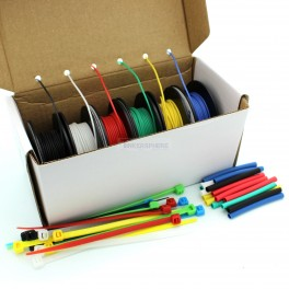 Stranded Silicone Hook Up Wire Box Set: 6 Color 18.3m / 60 ft Pack