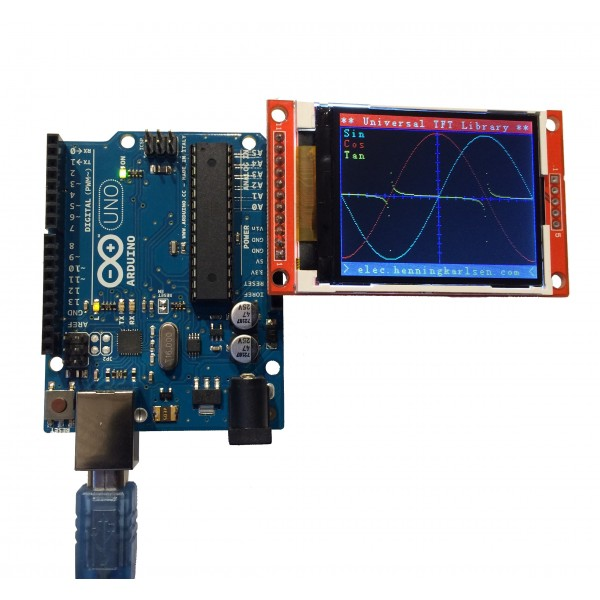15 99 Tft Lcd Display 2 2 Quot Arduino Compatible