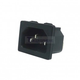 Snap In Male Power Connector: IEC 320 C13 / C14