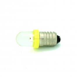 Yellow Mini E10 Light Bulb / Lamp - 12V