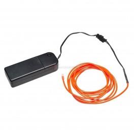 Orange EL (Electroluminescent) Wire with Inverter - 3m