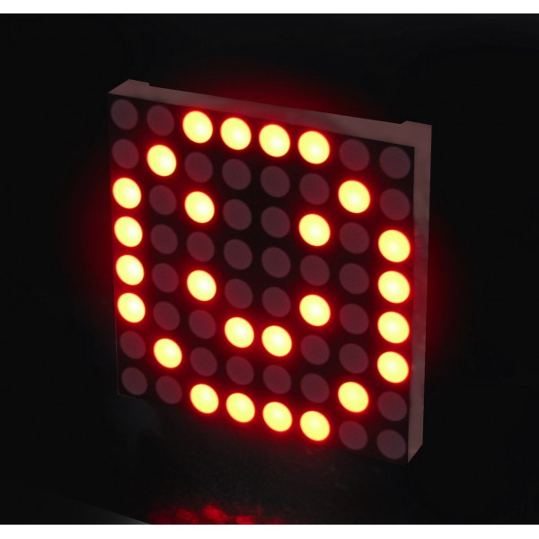 Red Led Matrix Panel Small 8x8