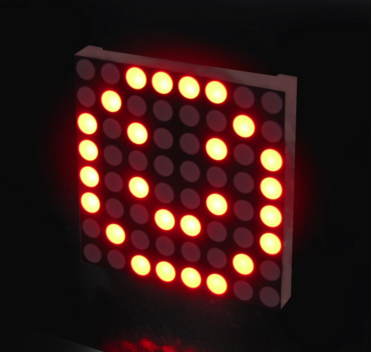 High-Efficiency Red 10mm Jumbo Diffused LED