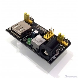 Breadboard Power Supply Module 3.3V & 5V (Arduino & Raspberry Pi Compatible)